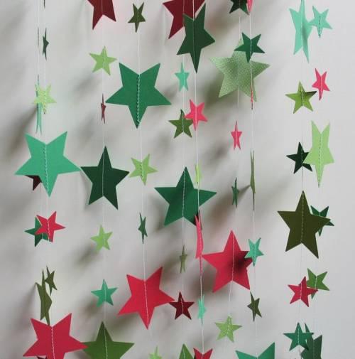 Новогодние гирлянды из бумаги из бумаги