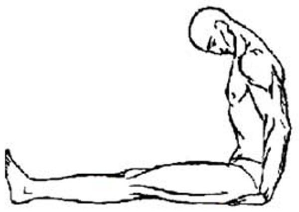 Для выполнения этого тибетского упражнения, которое поможет развить гибкость, следует сесть на пол