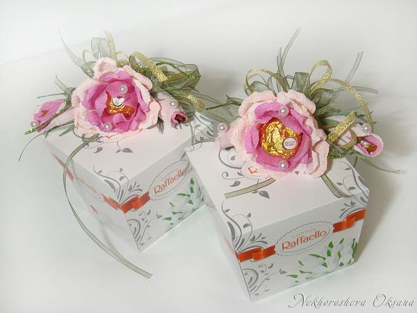 Украсить коробку рафаэлло