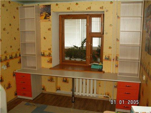 Письменный стол для двоих детей своими руками.