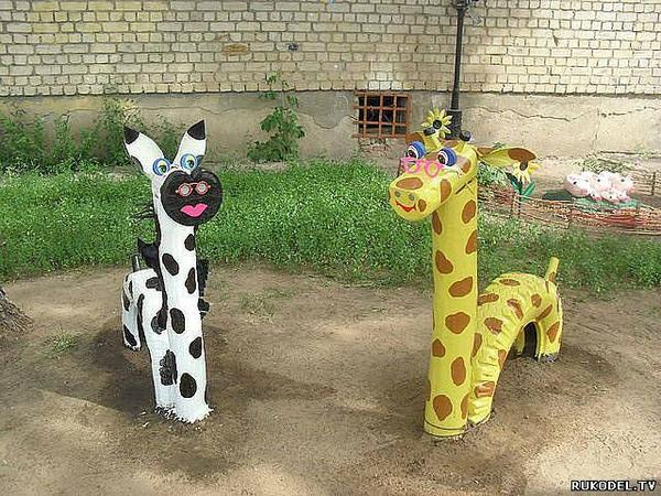 Как украсить площадку в детском саду подручными